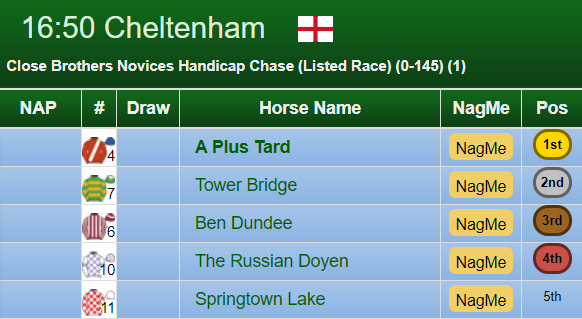 Close Brothers Handicap Chase Result 2019