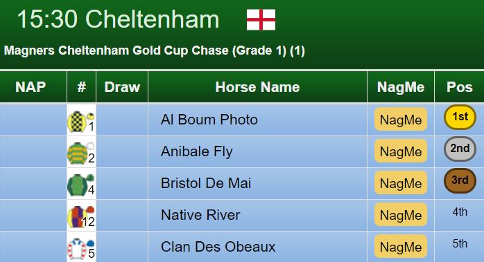 Cheltenham Gold Cup Result 2019