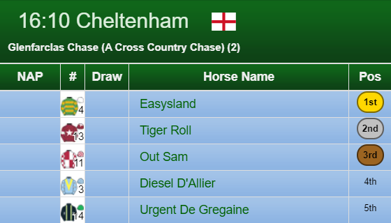 Cross Country Chase 2019 Result